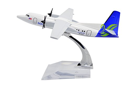 TANG DYNASTY 1/400 16cm マレーシア航空 MASwings Airlines Fokker-FK50 高品質合金飛行機プレーン模型 おもちゃ