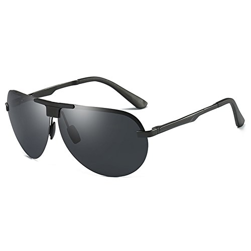 SYIWONG Mens Driving Polarizing Sunglasses Half Frame Super Light - Sunglasses Wrapped Wire