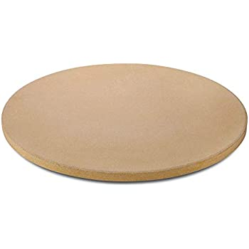 UNICOOK Heavy Duty Ceramic Pizza Grilling Stone, 15 Inch Round Baking Stone, Pizza Pan, Perfect for Oven, BBQ and Grill, Thermal Shock Resistant, Durable and Safe, 6.5lbs