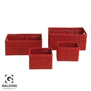 Galzone Red Storage Baskets   Set Of 4