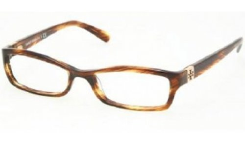 Tory Burch TY 2010 Eyeglasses Styles Amber Frame w/Non-Rx 49 mm Diameter Lenses, TY2010-860-49 by Tory Burch