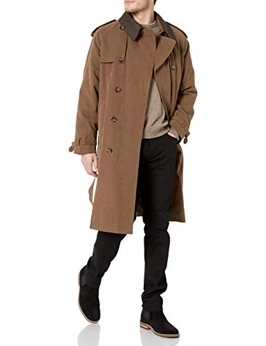 London Fog Men's Iconic Trench Coat, British Khaki, 48 Long