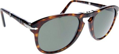 Persol PO0714 Sunglasses 24/31 Folding Havana/Crystal Green Lens 54mm (Persol Steve Mcqueen 714 Sm Special Edition)