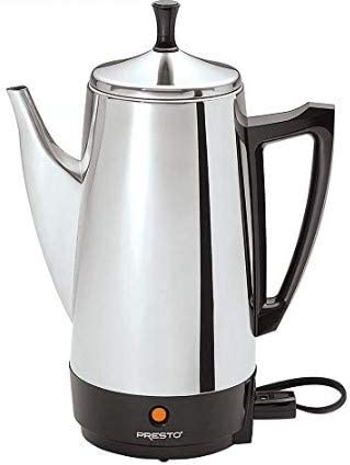 Presto E1PT02811 02811 12-Cup Stainless Steel Coffee Maker with 1 Year Extended Warranty