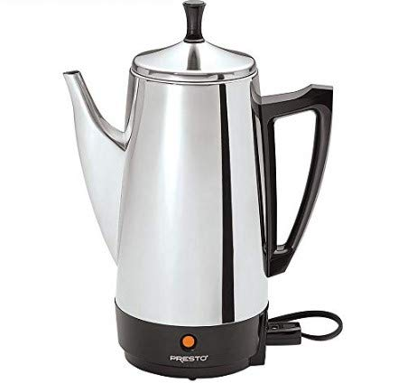 Presto E1PT02811 02811 12-Cup Stainless Steel Coffee Maker with 1 Year Extended Warranty by Presto