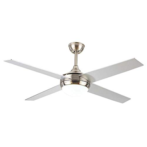 BEAR&MH 55 inches Modern Simple Single Light Ceiling Fan with Fan 4-Blade, LED Mute Electric Fans Chandeliers, for Living Room Dinner Room Home Decoration