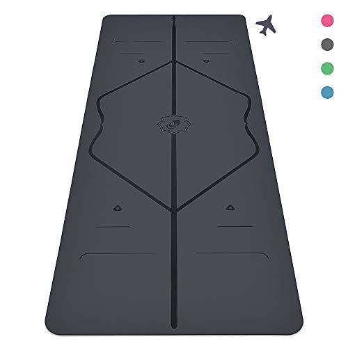 Liforme The Travel Yoga Mat, Light and Portable, Non Slip Alignment Yoga Mat
