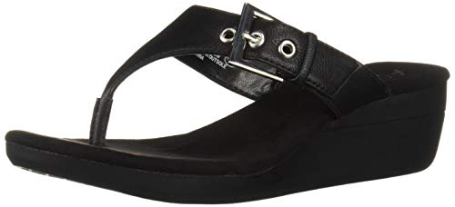 (Aerosoles A2 Women's Work Flow Wedge Sandal, Black, 9 M)