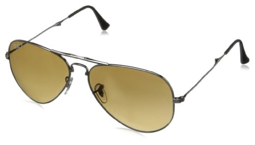 Ray-Ban AVIATOR FOLDING - GUNMETAL Frame CRYSTAL POLAR BROWN GRADIENT Lenses 58mm - Polarized Rb3479