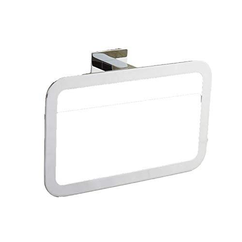 Shallnne Bathroom Hardware Set Chrome Simple Toothbrush Holder Paper Holder Towel Bar Bathroom Accessories,Towel Ring- Chrome
