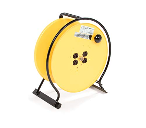 (Woodhead Super-Safeway 930 Hand-Wind Reel - NEMA 1 Cord Storage Drum Reel, Large Spool, Steel-Rod)