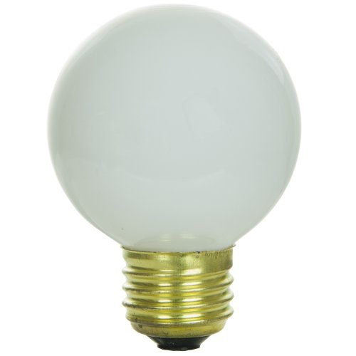 Sunlite 25G19/W Incandescent 25-Watt, Medium Based, G19 Globe Bulb, ()