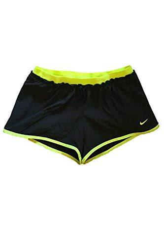 Nike Women's Full Flex 2-in-1 Training Shorts (Small, Black/Volt)