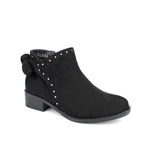Bottine Daim Femme Noir C'm Cendriyon Chaussures Z8wq8