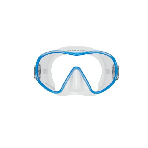 - Scubapro Solo Scuba Mask - Clear/Blue - Clear Skirt