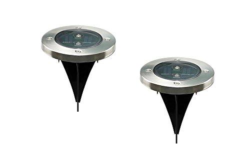 EZ Live Solar Powered Ground Light Outdoor Lights LED Lights Garden Yard Decor Set of 2pcs For Sale