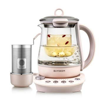 Buydeem K2693 Health-Care Beverage Tea Maker and Kettle, 9-in-1 Programmable Brew Cooker Master, 1.5 L, Pink  (Chinese Sticky Rice Recipe Using Rice Cooker)