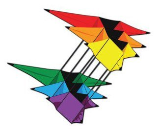 X-Kites 3D Supersize Triple Star - Kite Star