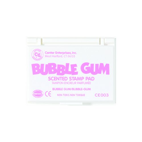 Scented Stamp Pad Refills (CENTER ENTERPRISES INC. STAMP PAD SCENTED BUBBLE GUM PINK (Set of 6))