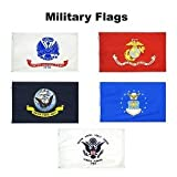 3′ X 5′ Armed Forces Set of Flags, Includes Army, Navy, Air Force, Marine Corps and Coast Guard, Made in The USA Review