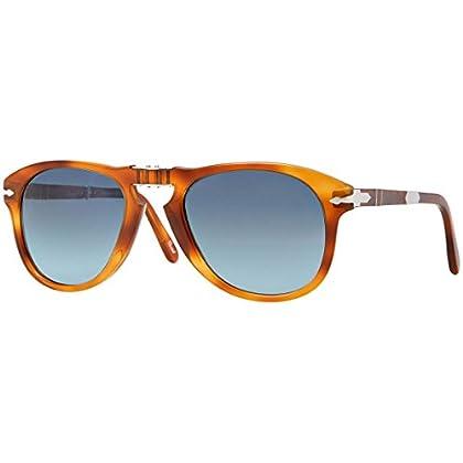 8cdbac25192 Persol Steve McQueen Polarized 714SM 96 S3 Folding Sunglasses Limited  Edition Light Havana Crystal Gradient Blue Polar 52mm