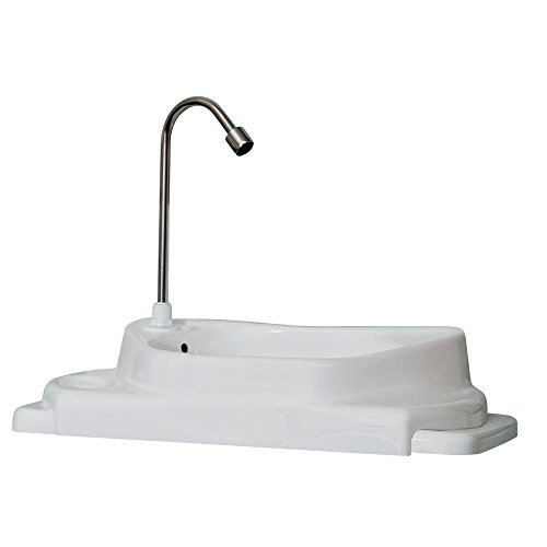 - SinkPositive Touch-Free Water/Space Saving Adjustable Toilet Tank Retrofit Sink/Faucet Basin White