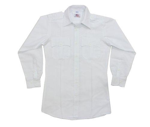 First Class Long Sleeve Uniform Shirt 1XL White (Uniform Polyester Shirt)