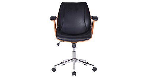 Urban Ladder Ray Mid Back Executive Office Chair (Black)