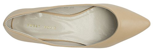 Womens Ladies Pointed Toe Flats Shoes Natural 1VxYo7RG