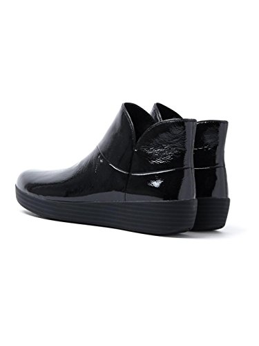 FitFlop Supermod Leather Ankle Boot II - Black Patent
