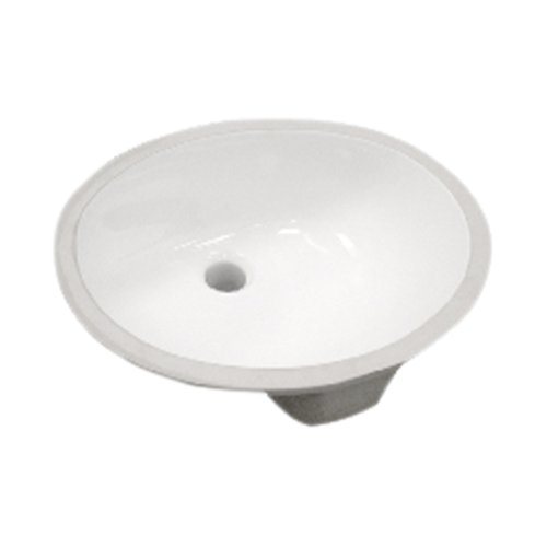 Pegasus 14-006-WHD 17-Inch Vitreous China Oval Undermount Sink, White