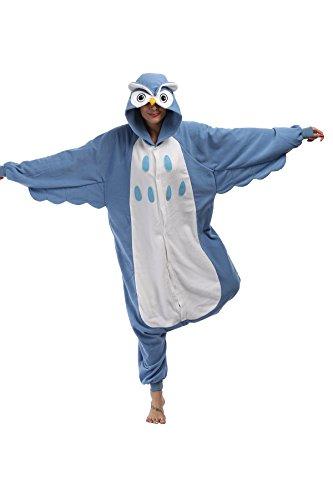 FS Unisex Adult Onesie Pajamas Owl Animal Costume Sleepwear Cosplay