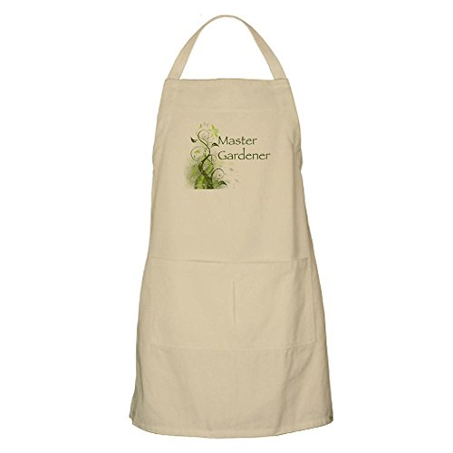 CafePress Master Gardener Modern BBQ Apron Kitchen Apron with Pockets, Grilling Apron, Baking Apron