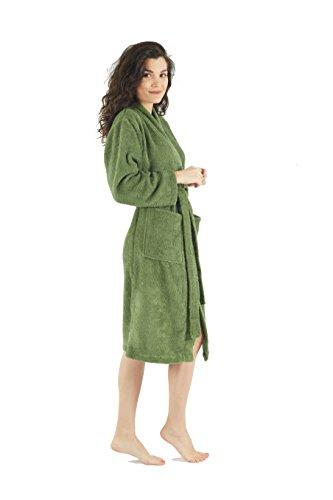 a8e8592fb6 Bagno Milano Womens Terry Robe – 100% Pure Turkish Cotton – Kimono-Style