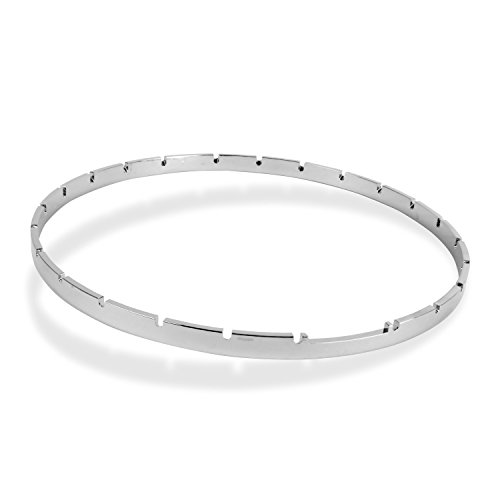 - Five-Star Notched Banjo Tension Hoop, Nickel-Plated Brass, 11