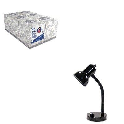KITKIM21271LEDL9091 - Value Kit - Ledu Incandescent Gooseneck Desk Lamp (LEDL9091) and KIMBERLY CLARK KLEENEX White Facial Tissue (Ledu Gooseneck)