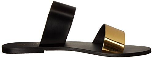 Nomad Women's Noosa Flat Sandal Gold/Black yes0igGDJ4