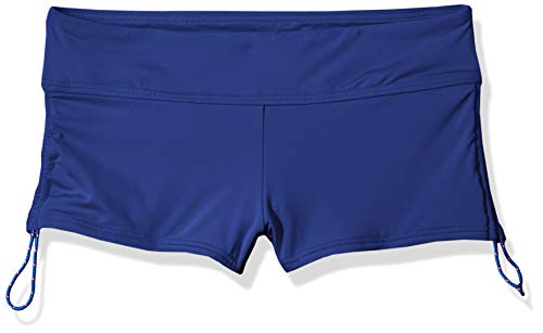 - TYR Solid Della Boyshort, Marine Blue, Large
