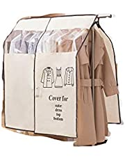 """JOONOR Large Hanging Garment Cover Garment Storage Bag with Transparent Window 35.4"""" x 43.3"""""""