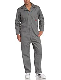 Dickies Men's Big-Tall Deluxe Long Sleeve Blended Coverall Grey