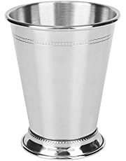 Stainless Steel Silvery Mint Julep Cup, Cocktail Mug Mixed Drinks Glass Bar Party Beer Hammered Copper Moscow Mule Cup