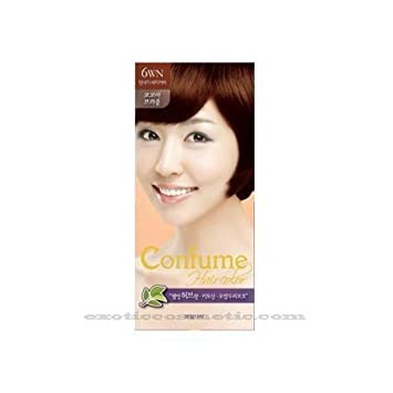 Amazon Com Confume Herbal Hair Color 6wn Cocoa Brown Chemical