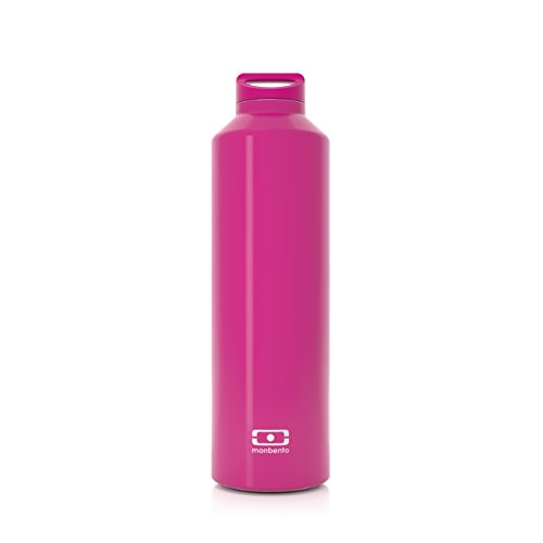(monbento MB Steel Insulated Water Bottle, Ruby)
