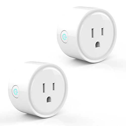 2 Pack Smart Plug Socket Lobay Wifi Wireless Outlet Home Electrical Timing Remote Control your Devices from Anywhere Compatible with Alexa and Google Assistant IFTTT No Hub Required