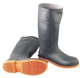 (Bata Shoe 87982-11 Onguard Industries Size 11 SureFlex Gray 16'' PVC Chemical Resistant Knee Boots with Safety-Loc Orange Outsole, Steel Toe and Removable Insole, 15.34 fl. oz, 16