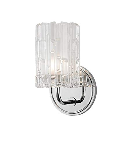 (Dexter 1-Light Vanity Light - Polished Chrome Finish with Clear Glass Shade)
