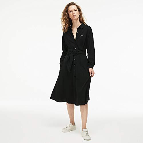 031 Noir Femme black Robe Lacoste awIvqXv
