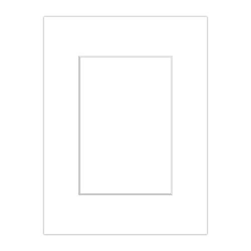 Premium Passepartout Weiß (Schneeweiß) - alle Standard Größen - 1,4mm stark - Museumsqualität (Außen: 60x80 / Innen: 40x60)