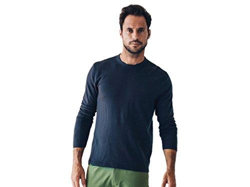 OLIVERS Apparel, Mens, Merino Wool, Performance Porter Henley Shirt, Small, Dark - Apparel Porters