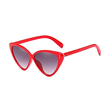 Burenqi@ Gafas de Sol Mujer Hombre Marca Cat Eye Designer ...